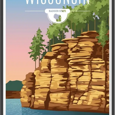Volume One Wisconsin State Travel Poster (13x19)