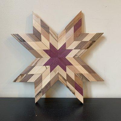 Gail Ryan Star Quilt Wood Hanging