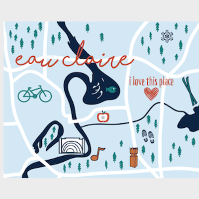 Volume One Eau Claire Icon Print (8x10)