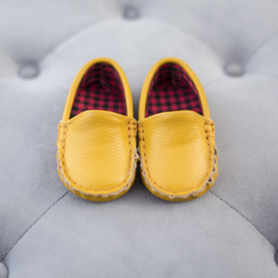 SoJo Moccs Baby Moccasins - Tan Leather