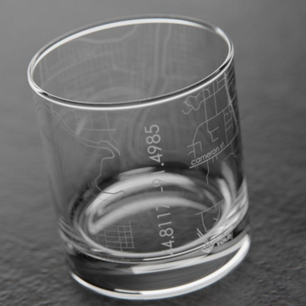 Volume One Rocks Glass - Eau Claire Map