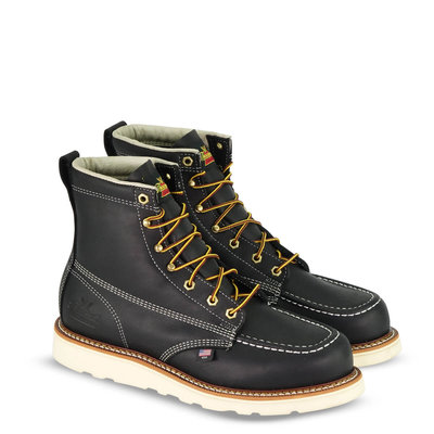 American Heritage Boots – 6″ Black Moc Toe