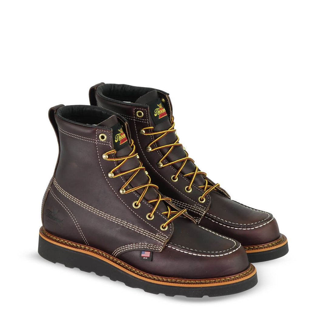 American Heritage Boots – 6″ Black Walnut Moc Toe