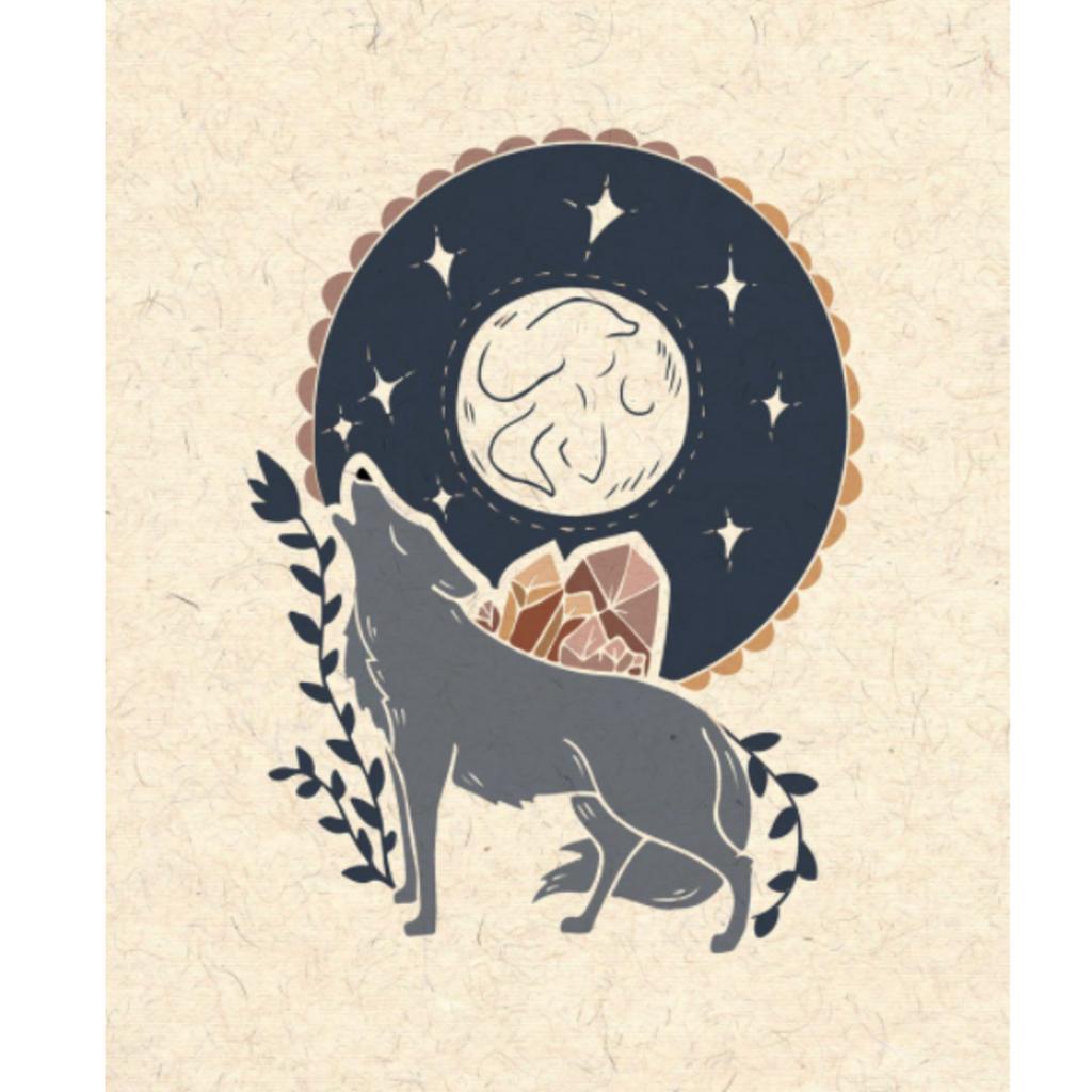 Wolf Howling Print (8x10)