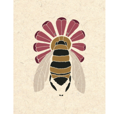 Flower & Bee Print (8x10)