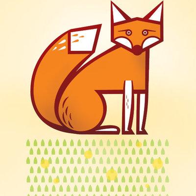 Geo Fox Print (8x10)
