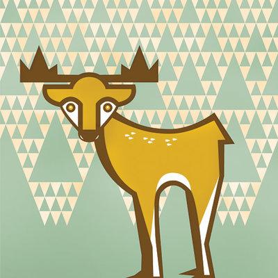 Geo Deer Print (8x10)