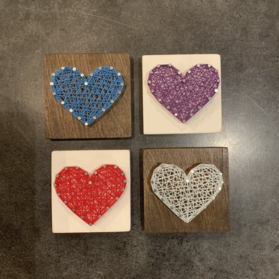 Strung on Nails String Heart - Small