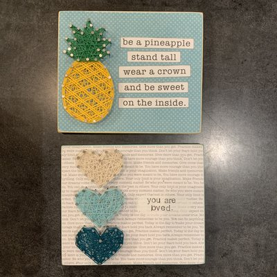 Strung on Nails String Art 5X5 - Assorted Quotes