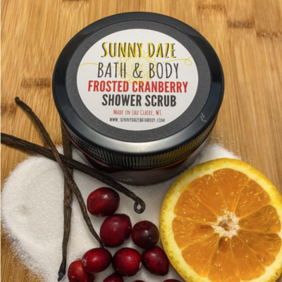 Sunny Daze Bath & Body Shower Scrub - Frosted Cranberry