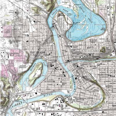 My Local Puzzles Puzzle - Eau Claire Map