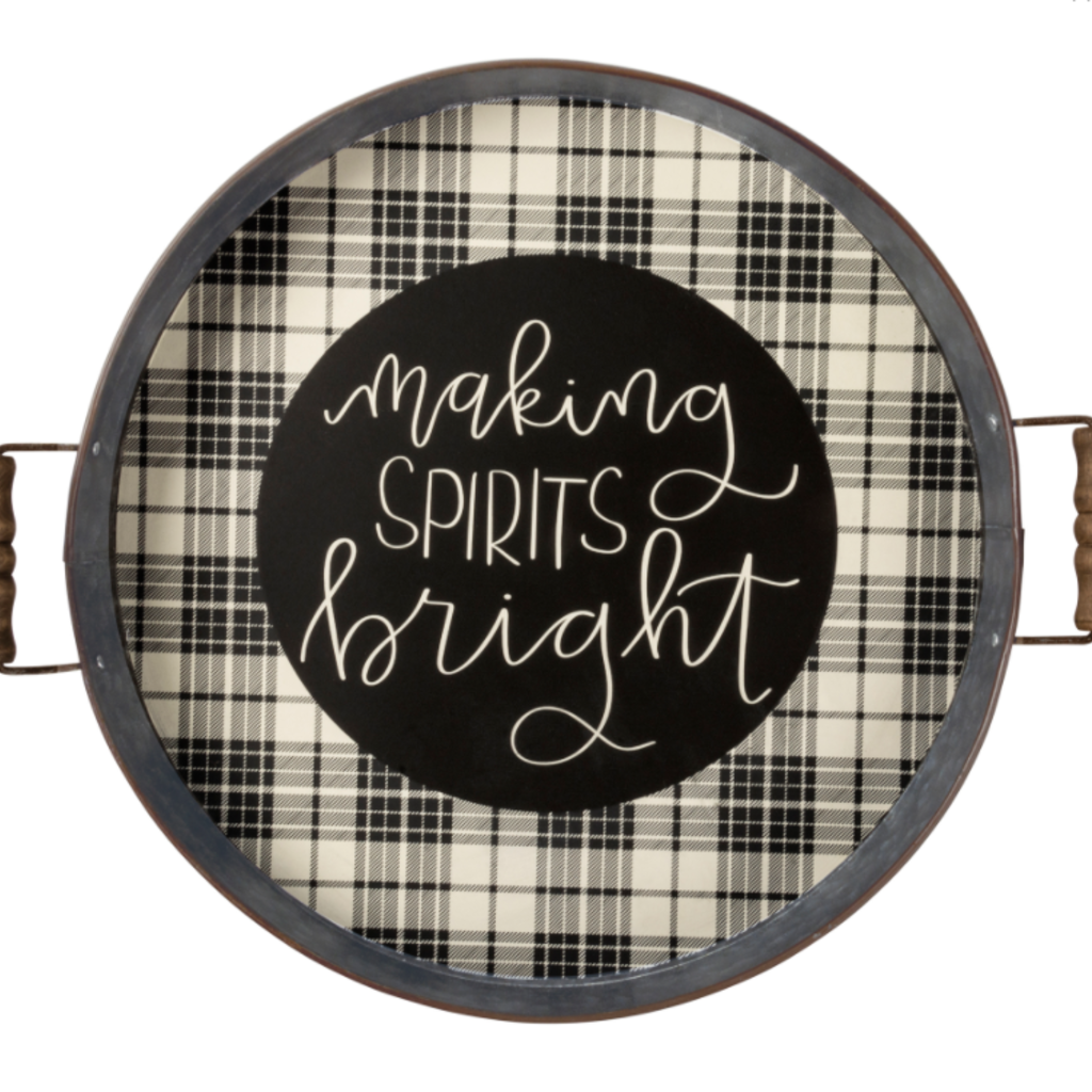 Volume One Metal Tray - Making Spirits Bright