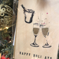 Volume One Wood Card - Holiday Cheers