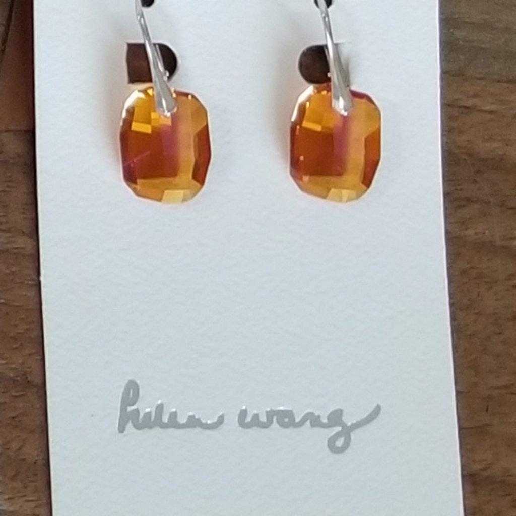 Helen Wang Jewelry Earrings - Orange Swarovski Crystal