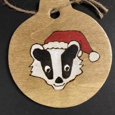 Wisco Cheer Wisco Cheer Ornament - Round Badger