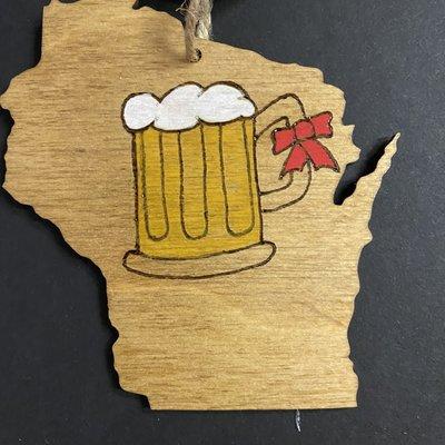 Wisco Cheer Wisco Cheer Ornament - WI Beer