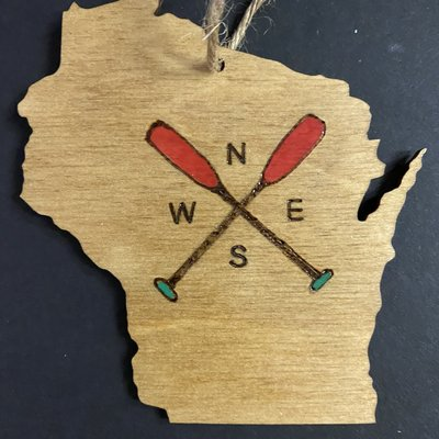 Wisco Cheer Wisco Cheer Ornament - WI Paddles