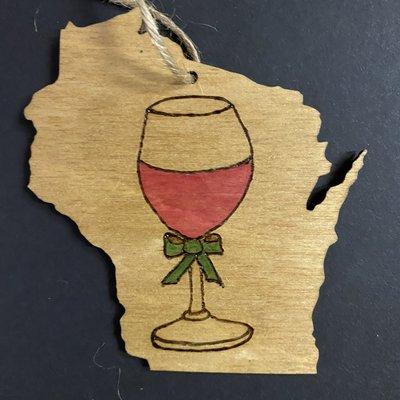 Wisco Cheer Wisco Cheer Ornament - WI Wine