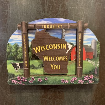 Volume One WI Welcomes You Magnet