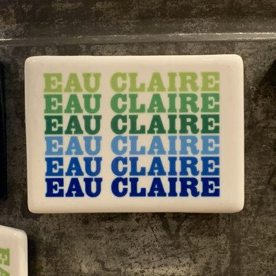 Volume One Magnet - Eau Claire (Blue & Green)