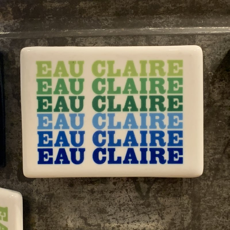 Volume One Magnet - Eau Claire (Blue & Green)