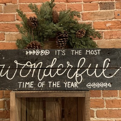 Holiday Sign - Wonderful Time of the Year