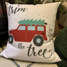 Tandem for Two Pillow - Trim the Tree (Eau Claire)