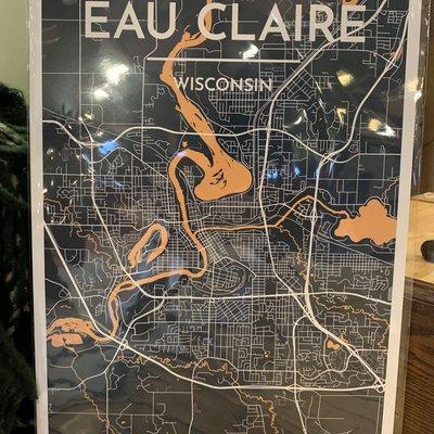 Volume One Eau Claire Map Print 13x19