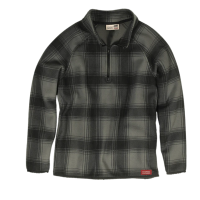 Stormy Kromer The Weekender Pullover - Black/Gray Plaid