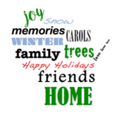 Wisco Cheer Wisco Cheer Holiday Card - Holiday Word Cloud
