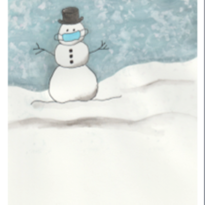 Wisco Cheer Wisco Cheer Holiday Card - Masked Snowman