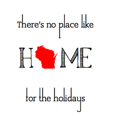 Wisco Cheer Wisco Cheer Holiday Card - No Place Like Home