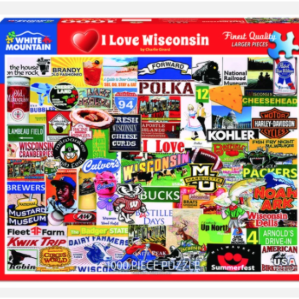 I Love Wisconsin Puzzle (1,000 Pieces)