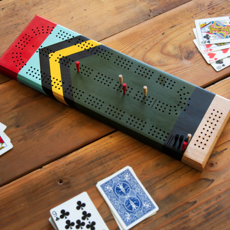 Sanborn Canoe Company Sanborn Painted Cribbage Board - Scout