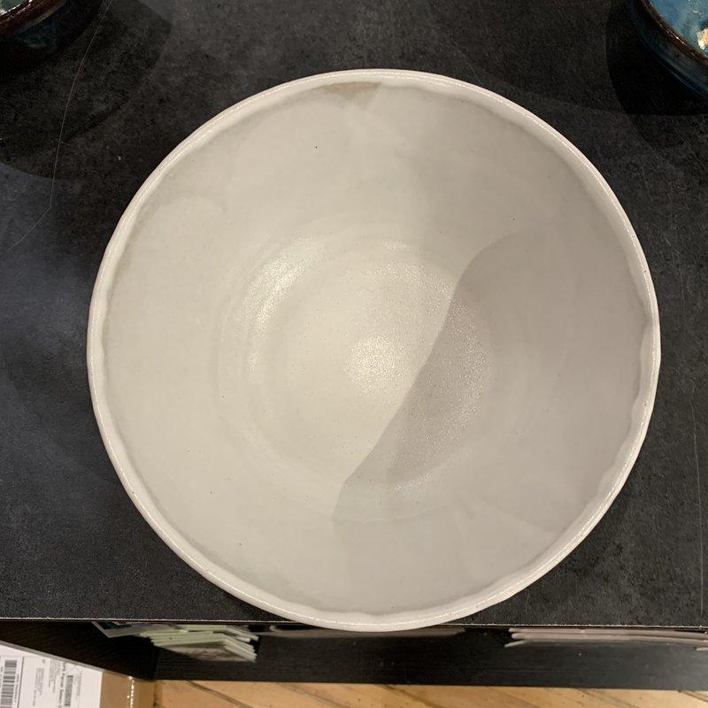 Dancing Cat Arts (Pottery) Medium Bowl (Pottery) - White