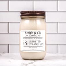 Frosted Cranberry Large Mason Jar Candle 16oz