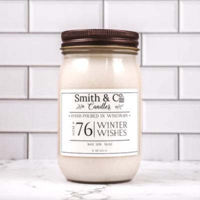 Winter Wishes Mason Jar Candle 16oz