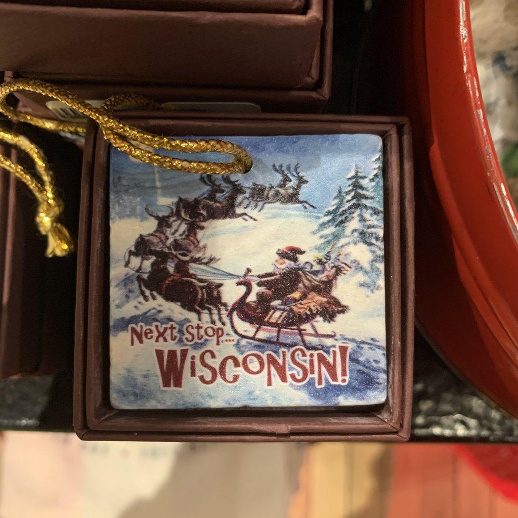 Volume One Next Stop Wisconsin Ornament