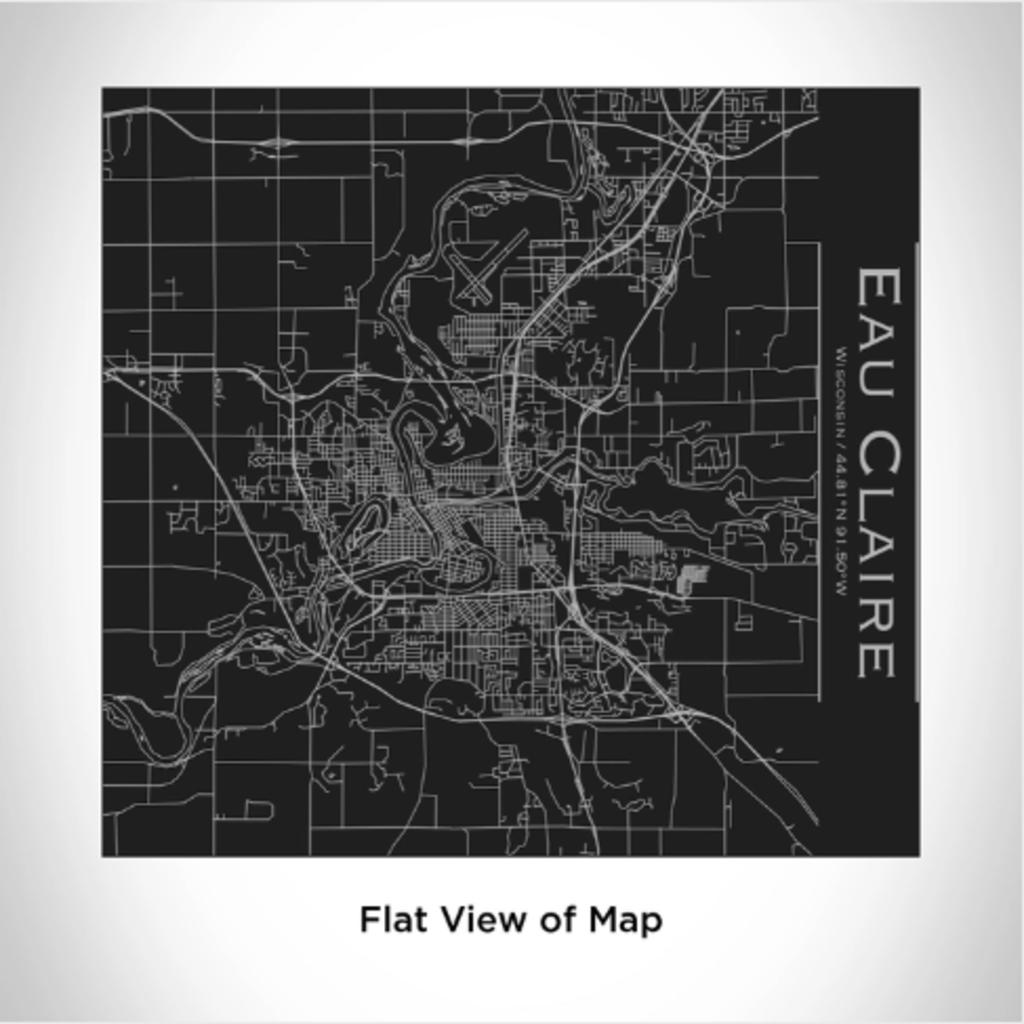 Volume One Eau Claire Map Tumbler (Matte Black)