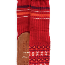 Moccasin Camp Socks - Multi Stripe Black (Women's)