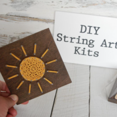 Strung on Nails DIY String Art Kit - Sun