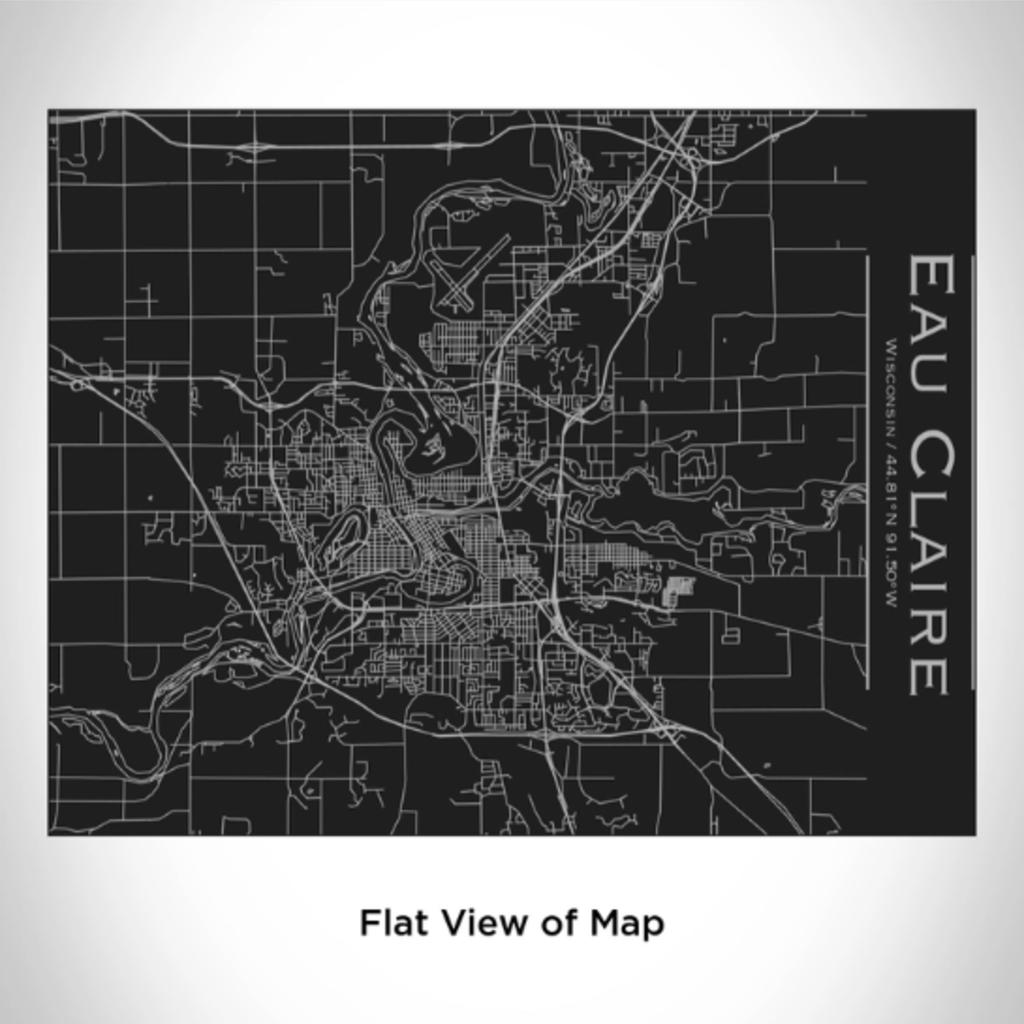 Volume One Eau Claire Map Bottle (Matte Black)