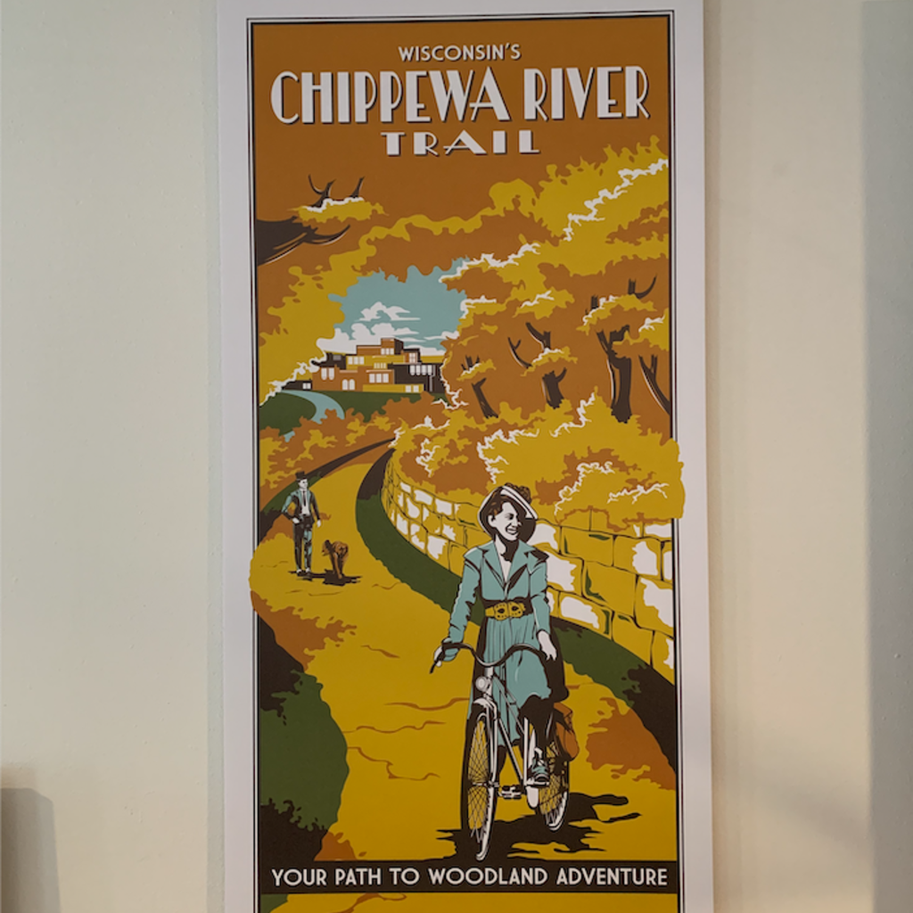 Volume One Vintage Tourism Poster - Chippewa River Trail
