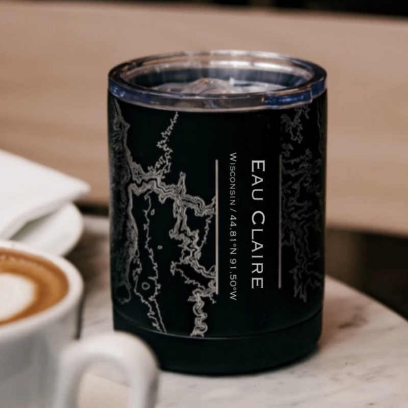 Volume One Eau Claire Map Insulated Cup (Matte Black)