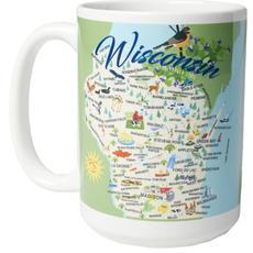 Volume One Ceramic Mug - Whimsical Wisconsin