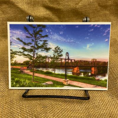 Lloyd Fleig Postcard - Phoenix Park Bridge
