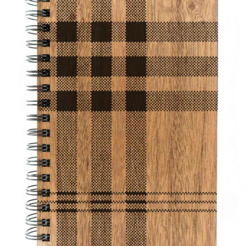 Woodchuck Wood Plaid Spiral Journal