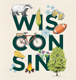 Swedish Dishcloth - Wisconsin Peek-A-Boo