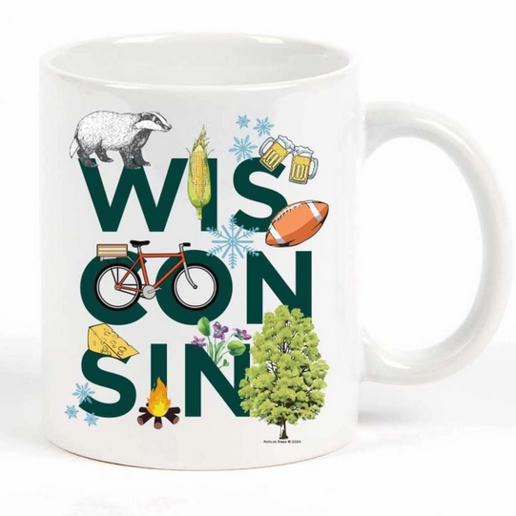 Wisconsin Peek-A-Boo Mug