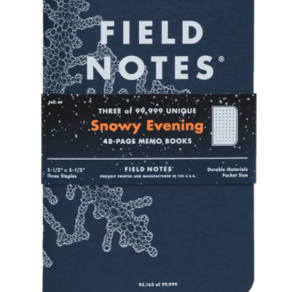 Volume One Snowy Evening Field Notes - 3 Pack
